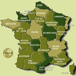 les regions Cartefranceregion